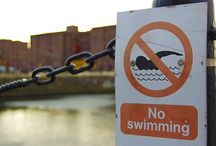 Water Safety signs / Water safety signs used in workplaces and public areas such as beaches, swimming pools and in the countryside. When you are in or around water you will see three types of water safety signs, each of which must comply with British Standards Institute regulations. You'll also find general information signs whenever there is a potential hazard or danger when you are near water. Water prohibition signs you may need to keep your particular area safe.