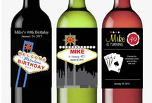 A Toast to Wine Bottle Labels and Ideas / Dress up your wine or champagne bottles with these personalized wine bottle labels. Or makes great table numbers. Terrific for bridal showers, weddings, anniversaries or Wine Tasting celebrations!