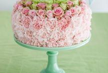 тортик из цветов