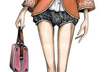 fashion illustration / all those wicked fashion sketches