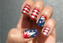 4th of July nails / by Kesha Wiederhold