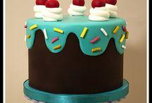 Fondant icing bday cakes