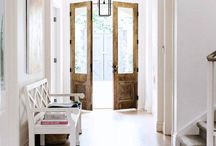 Modern Rustic Interiors / Country chic in a modern way - mixing traditional materials with new, clean lines...