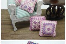 Crochet Doll House Items