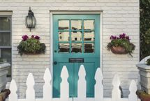 Behind A Turquoise Door / Turquoise may be an unusual color, but it's perfect if you crave emotional balance, have big hopes and dreams and believe that anything is possible. In other words, you're a romantic dreamer.