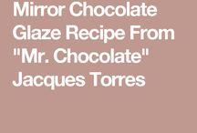 Mirror chocolate glaze