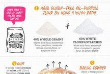 Gluten Free Baking / Articles, infographics and tips on baking without gluten.