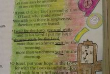 My Bible Journaling / This is my personal Bible Journaling - Bible Art.  I have to start by saying I have been writing, drawing, Scrapbooking and doodling in my Bible for over 25 yea