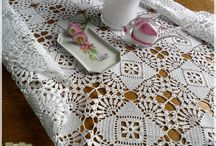 doilies & blankets & pillows …  مفـــارش كروشيه / by Ramia