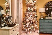Farmhouse White Christmas Tree