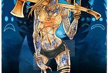 Artist®: Benjamin Estrada [Deviantart]© / benjamin estrada, mechico, artisz, art, illustrator, women, girls, zombie, death, blood, painting, artist, super zero, halloween, ultraviolet, dead or alive, los kung fu monkeys, ampula, niňo zombi, los pardos, nada bueno