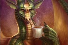 Dragon Friends! / The dragons in Faerieland are beautiful, friendly and love sharing a cup of tea with the faeries! ✨