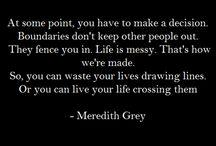 Grey's Anatomy words of wisdom