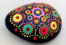 Piedras pintadas mandalas