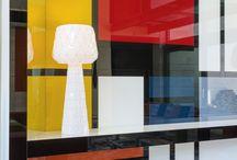 Une touche artistique? C'est possible grâce à la gamme de produits verriers Lacobel! /  Découvrez-les sur : www.glastetik.fr #Mondrian #Art #Déco