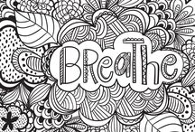 Stress Relief Coloring Quotes