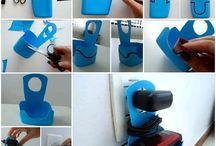 Recykling plastiku - inspiracje / Warto odzyskiwać zużyte przedmioty i nadać im nowe znaczenie i wygląd.