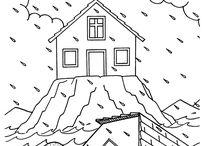 sziklára épült ház