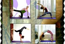 yoga on the wall