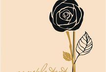 花のステンシル