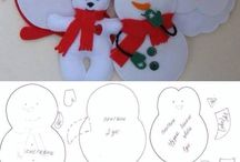 Vianoce - šité ozdoby