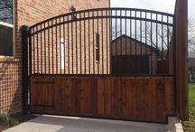 Auto Gates / Custom Auto Gates fabricated & installed by Titan Fence & Supply Company