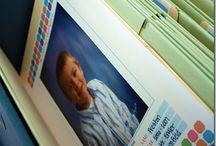 Organizing Children's School Work / Ideas for organizing kid's school work.