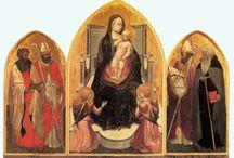 Мазаччо (итал. Masaccio).1401, Сан-Джованни-Вальдарно—1428 Рим. / Настоящими учителями Мазаччо были Брунеллески и Донателло. Сохранились сведения о личной связи Мазаччо с этими двумя выдающимися мастерами раннего Возрождения. Они были его старшими товарищами, и к моменту созревания художника уже сделали свои первые успехи.