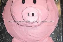 Pink Pig Cake Party