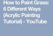 Grass, how to paint 6 ways