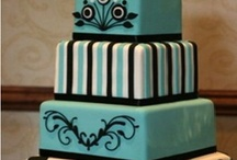 Teal and brown cake