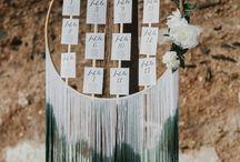 Boho Seating Chart -wedding
