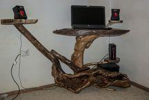 Rustic Handmade Laptop Desk / Rustic handmade laptop desk www.natureistheartist.webgarden.ro
