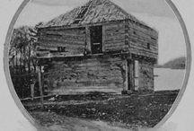 log buildings / by Bruce Hoffman
