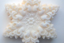 천연비누/디자인 눈 꽃 / 눈 꽃모양 디자인비누