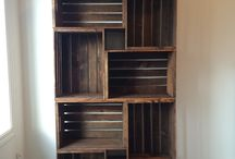 Wine crate bookshelf