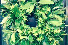 Christmas wreath homemade with herbs / Christmas wreath home mafe