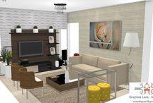 Consultoria da leitora: Decoração da sala de estar com cores neutras e 3D!