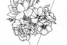 Kwiaty tattoo