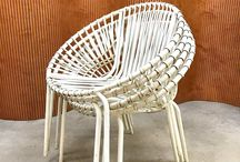 Vintage Garden Furniture Picks / Outdoor furniture, Outdoors, Vintage Summer, Summer furniture, Summer Inspiration, Exterior inspiration, vintage chair, vintage table, vintage sun lounger, vintage chaise longue, vintage garden chair, egg chair, hanging chair, rattan, garden bench,