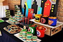Superhero Party Ideas / Superhero sweets table/candy buffet.