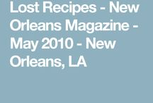 LOST RECIPES NEW ORLEANS