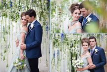 """Wedding Colours : Inspiration - a study in """"Placid Blue"""" / When the colour experts at Pantone published their 2014 Spring fashion palette, Placid Blue was foremost on the swatch. """"A soft pastel invoking the sky, this hue of blue brings a sense of openness and peacefulness."""". So what would your wedding look like, in this colour? Let us show you, with this gorgeous and inspiring photo/video study on placid blue, designed & executed by the ultra-creative Calgary team of .."""
