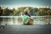 love story в парке летом