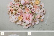 parasol z kwiatów