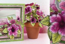 Classic Petunia Collection / No flower signifies summer more than the large trumpet shaped blossom of the gentle petunia! Filled with classic petunia pinks and deep purples along with pretty leaf like greens, the delicately patterned papers in this charming paper collection will transport you to your favorite garden plot! So join with us as we usher in the summer season with the tender flowers of the new Classic Petunia Collection debuting worldwide and shipping on May 10th!
