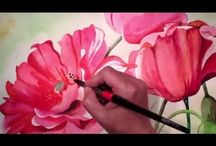 Flower Painting and tutorials / Painting flowers