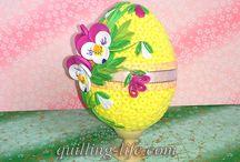 quilling eier