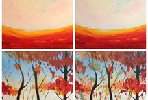 Paint party ideas / by Shelley Ebeling