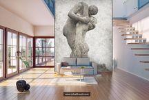 Romantic wall design / www.infoaffreschi.com
